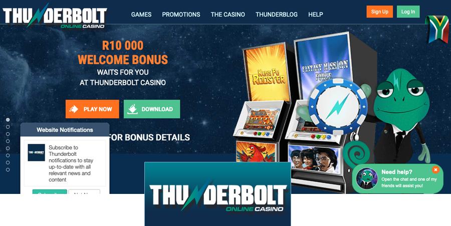 South Africa Thunderbolt Online Casino