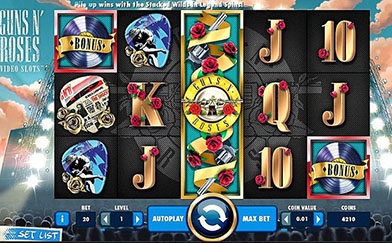 Online Video Slots Guns n' Roses