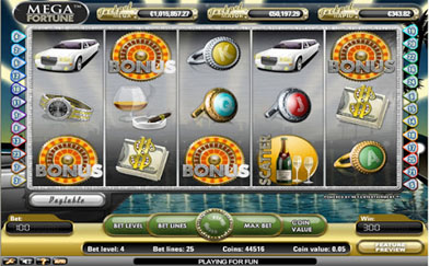 Online Video Slots Mega Fortune
