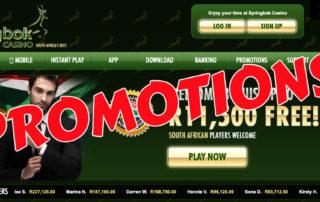 Springbok Casino Promotions